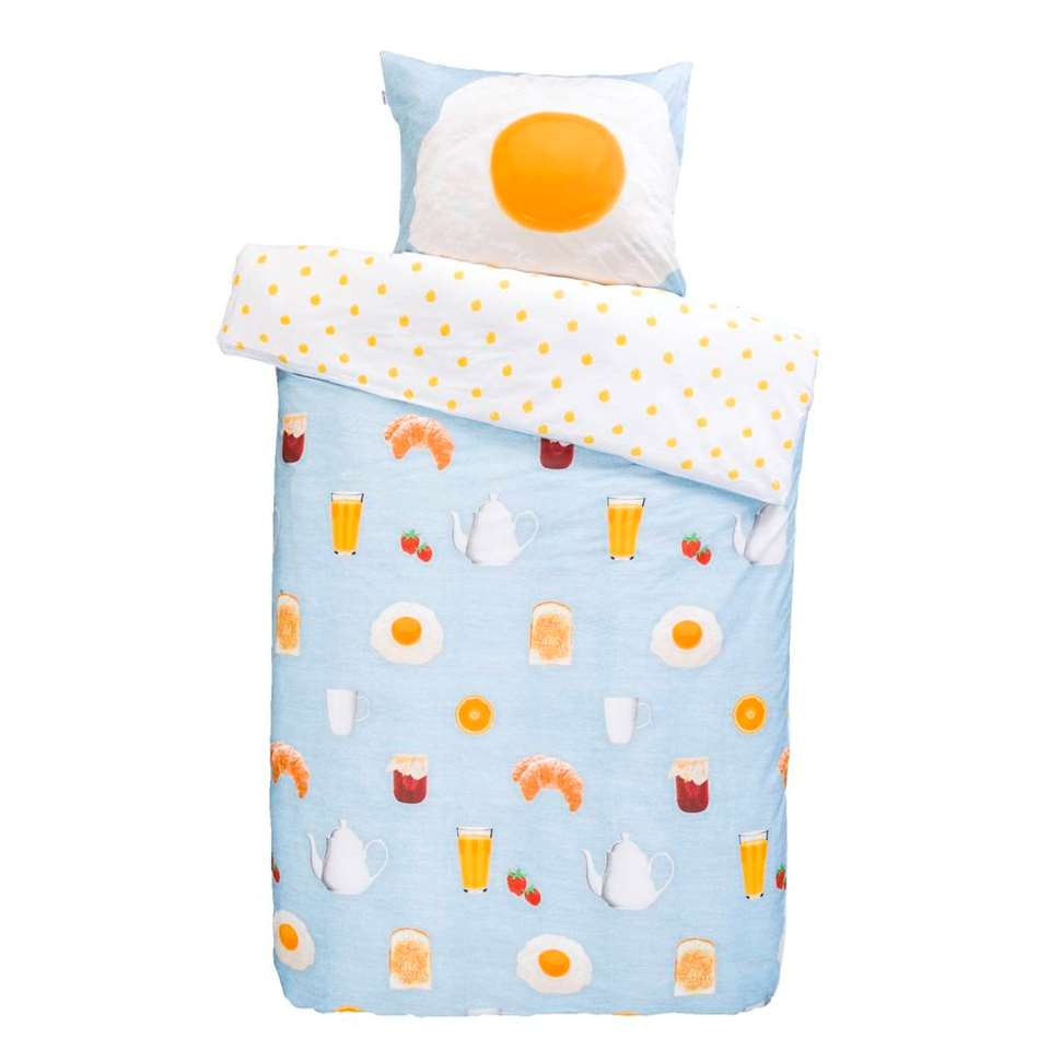 Covers & Co dekbedovertrek Sunny Side Up - multikleur - 140x220 cm - Leen Bakker