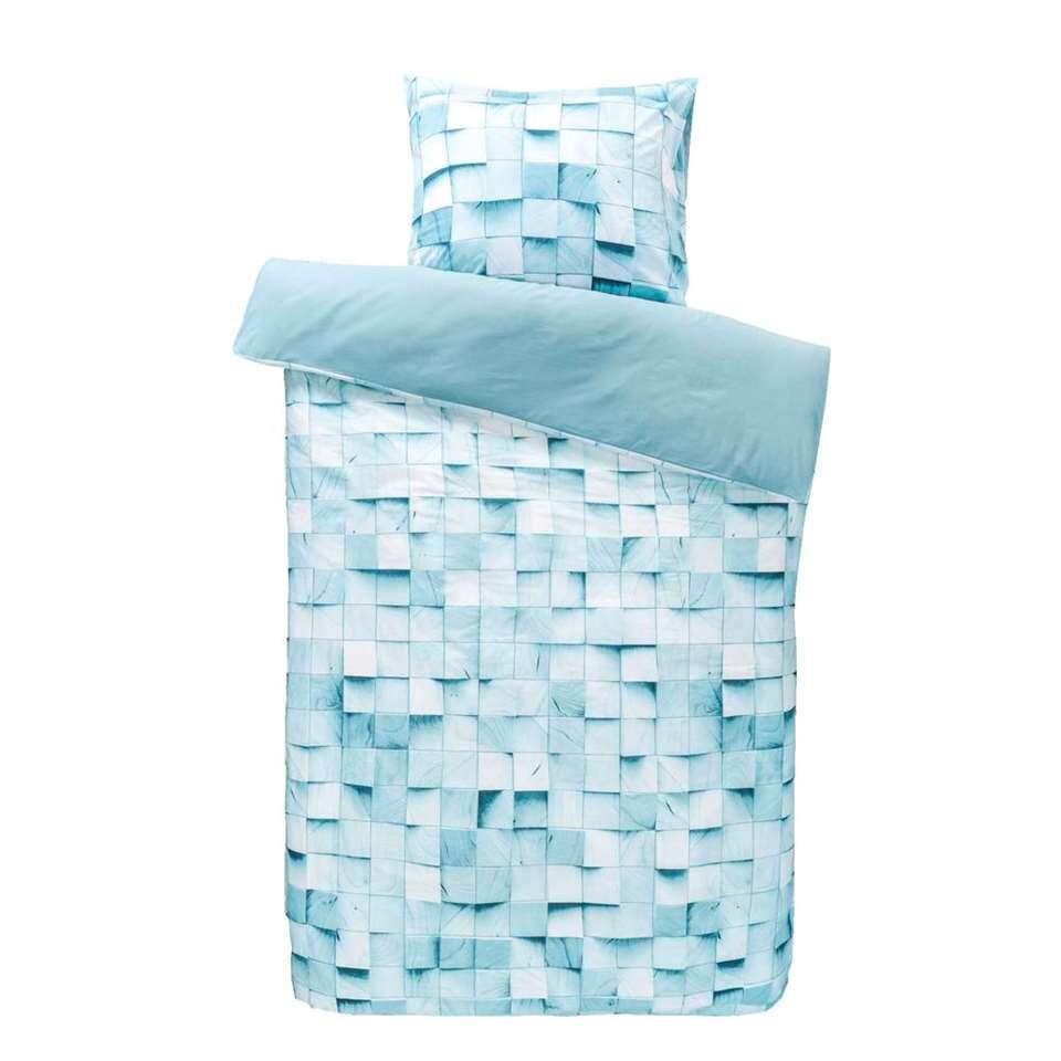 Dream dekbedovertrek Rome - blauw - 140x200/220 cm - Leen Bakker