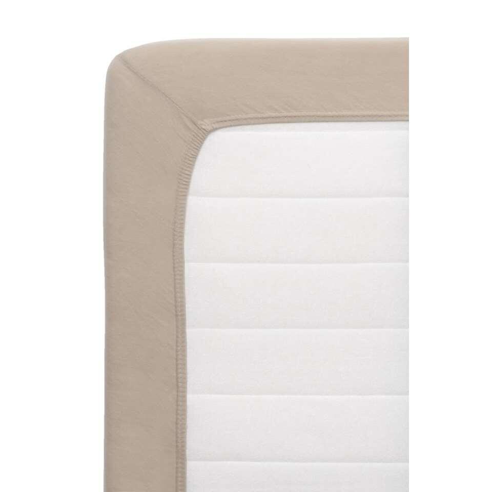 Hoeslaken Jersey - taupe - 180x200 cm - Leen Bakker
