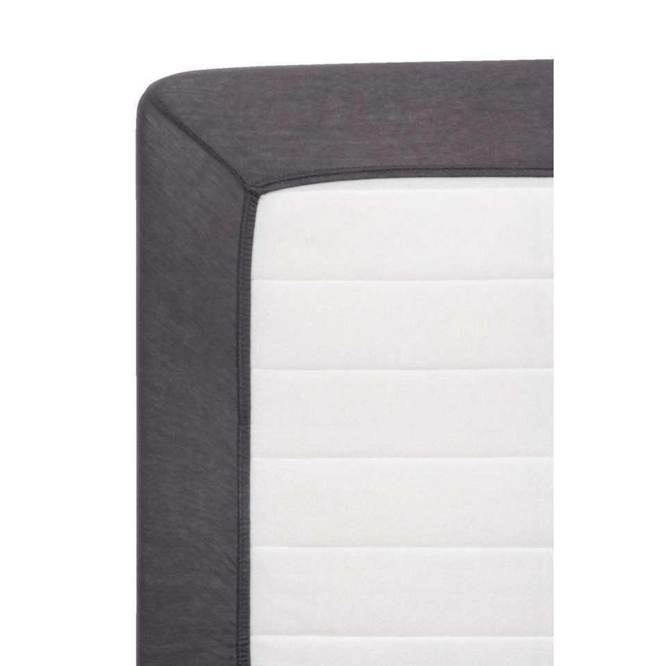Hoeslaken Jersey - antraciet - 180x200 cm - Leen Bakker