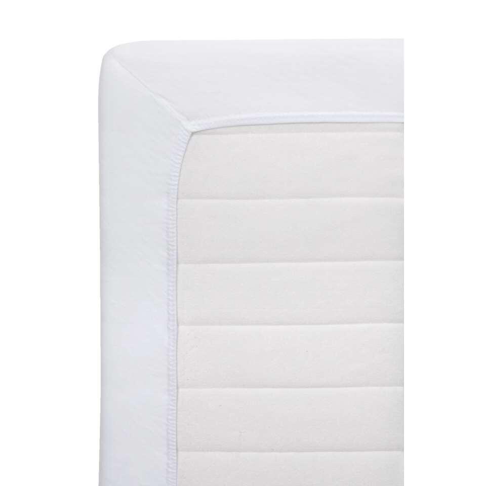 Dit witte hoeslaken Jersey is absoluut onmisbaar in huis. Het is vervaardigd uit 100% katoen en voelt hierdoor heerlijk zacht aan. Het laken heeft een afmeting van 70 bij 150 cm.