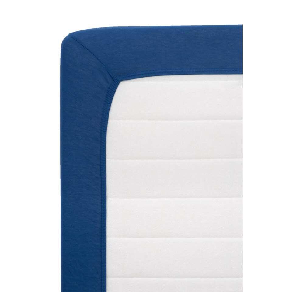 Hoeslaken Jersey - donkerblauw -90x200 cm - Leen Bakker