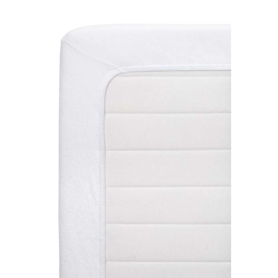 Hoeslaken badstof - wit - 140x200 cm - Leen Bakker