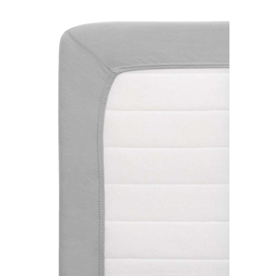 Hoeslaken Jersey Netto - lichtgrijs - 160x200 cm - Leen Bakker
