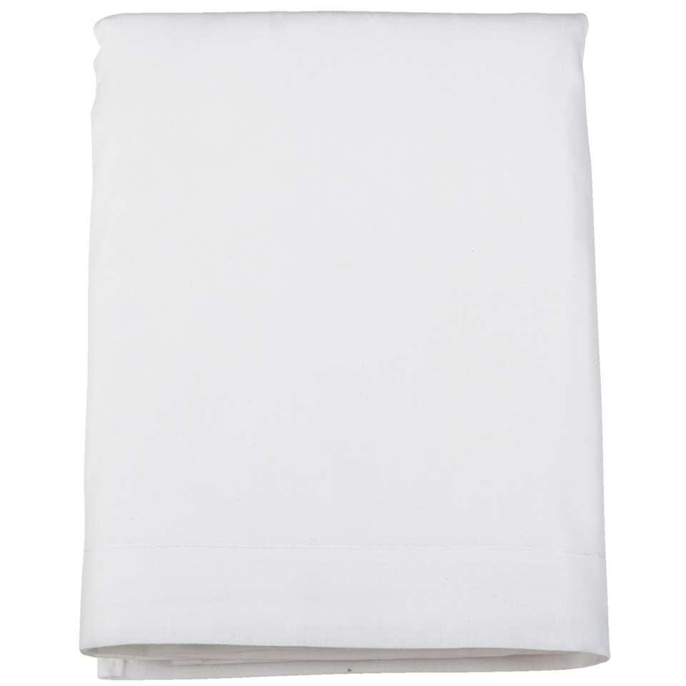 Laken katoen - wit - 200x250 cm - Leen Bakker