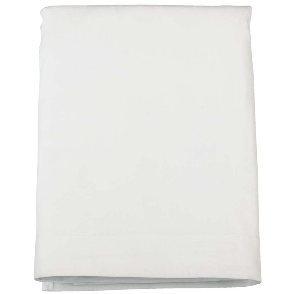 Laken katoen - wit - 240x260 cm - Leen Bakker