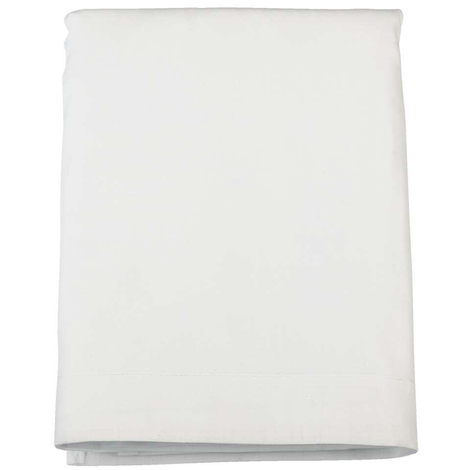 Laken katoen - wit - 240x260 cm