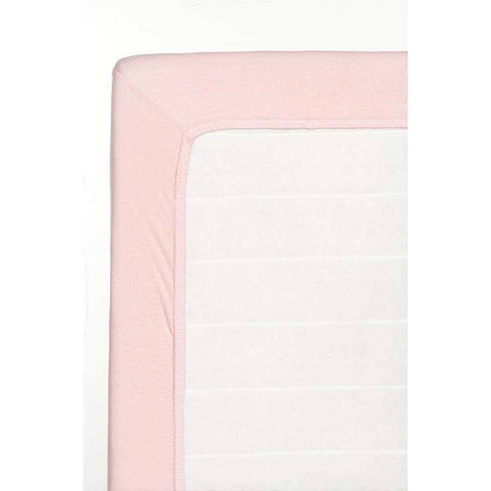 Hoeslaken Jersey - lichtroze - 70x150 cm