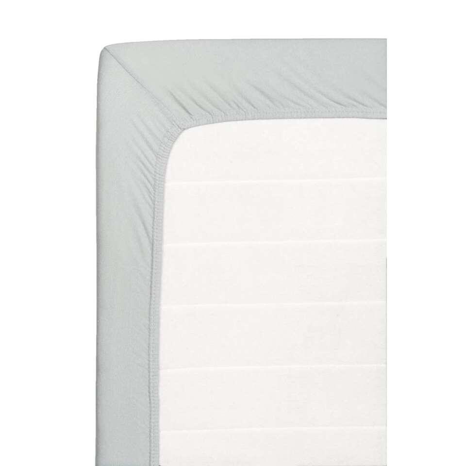 Hoeslaken Jersey - grijs - 180x200 cm - Leen Bakker