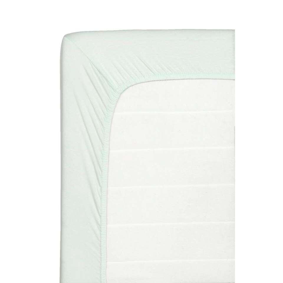 Hoeslaken Jersey - lichtgroen - 90x200 cm - Leen Bakker