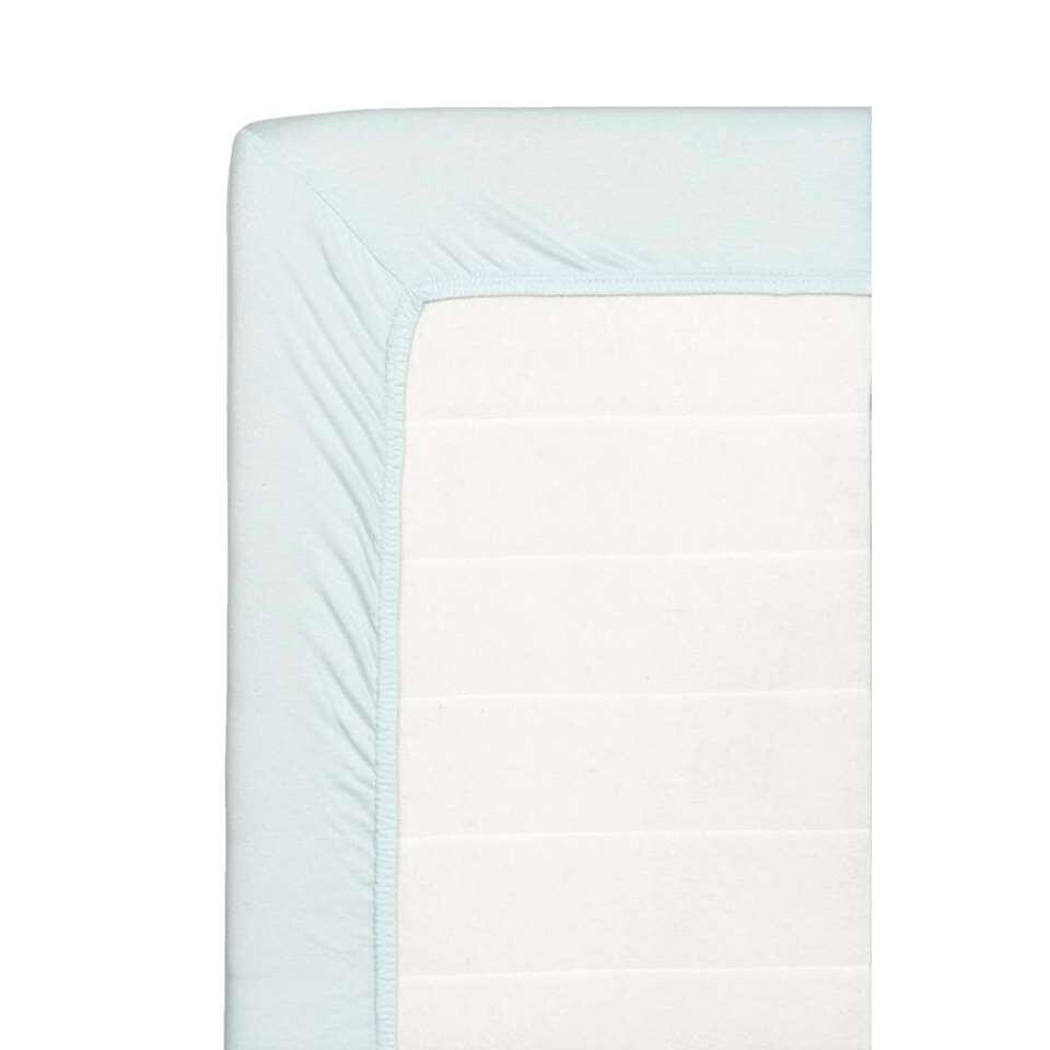 Hoeslaken Jersey - lichtblauw - 90x200 cm - Leen Bakker