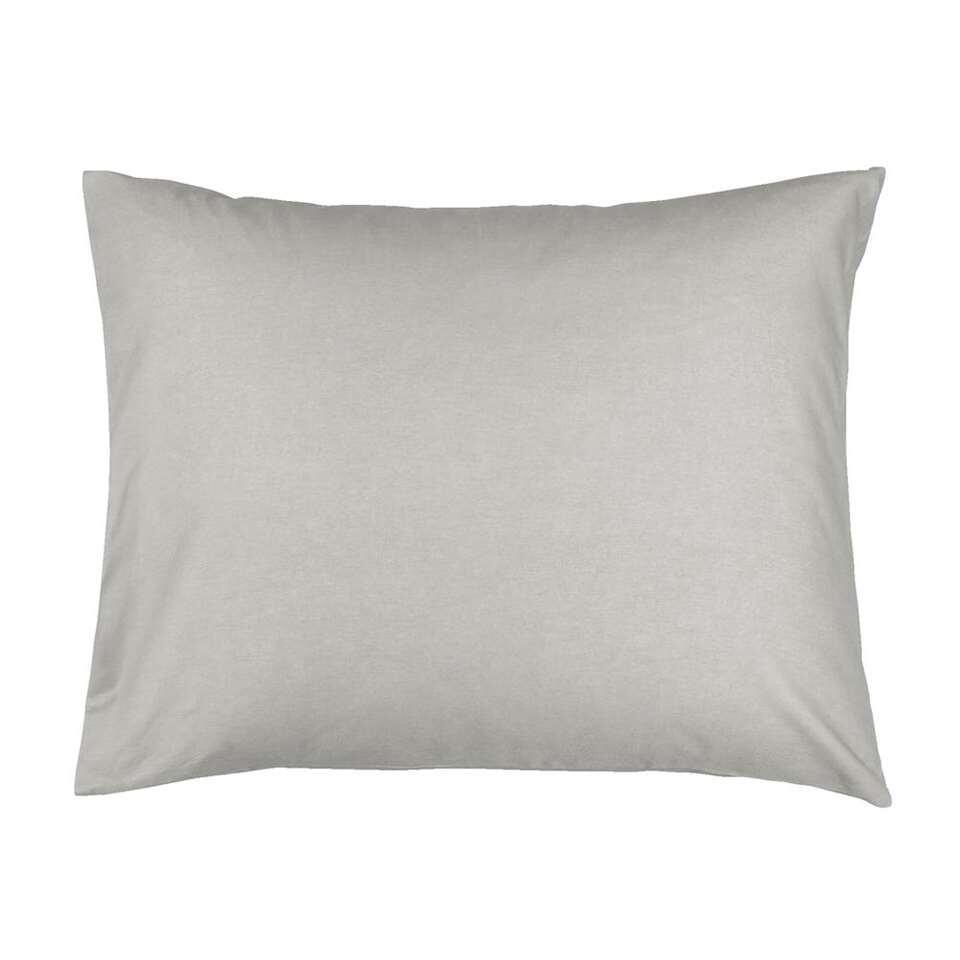 Sloop Percale katoen - grijs - 60x70 cm (2 stuks) - Leen Bakker