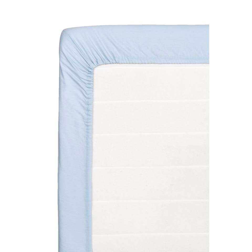 Hoeslaken katoen - lichtblauw - 180x200 cm - Leen Bakker