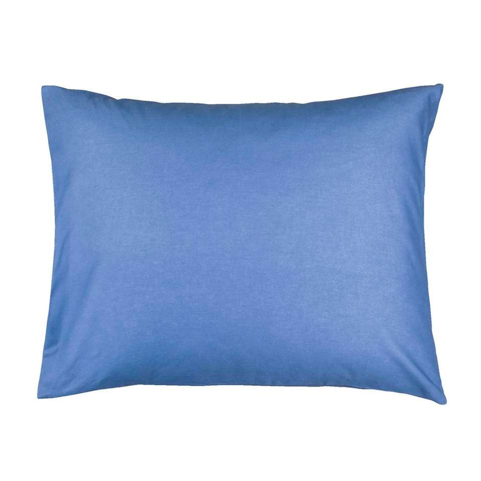 Sloop katoen (2 stuks) - blauw - 60x70 cm - Leen Bakker