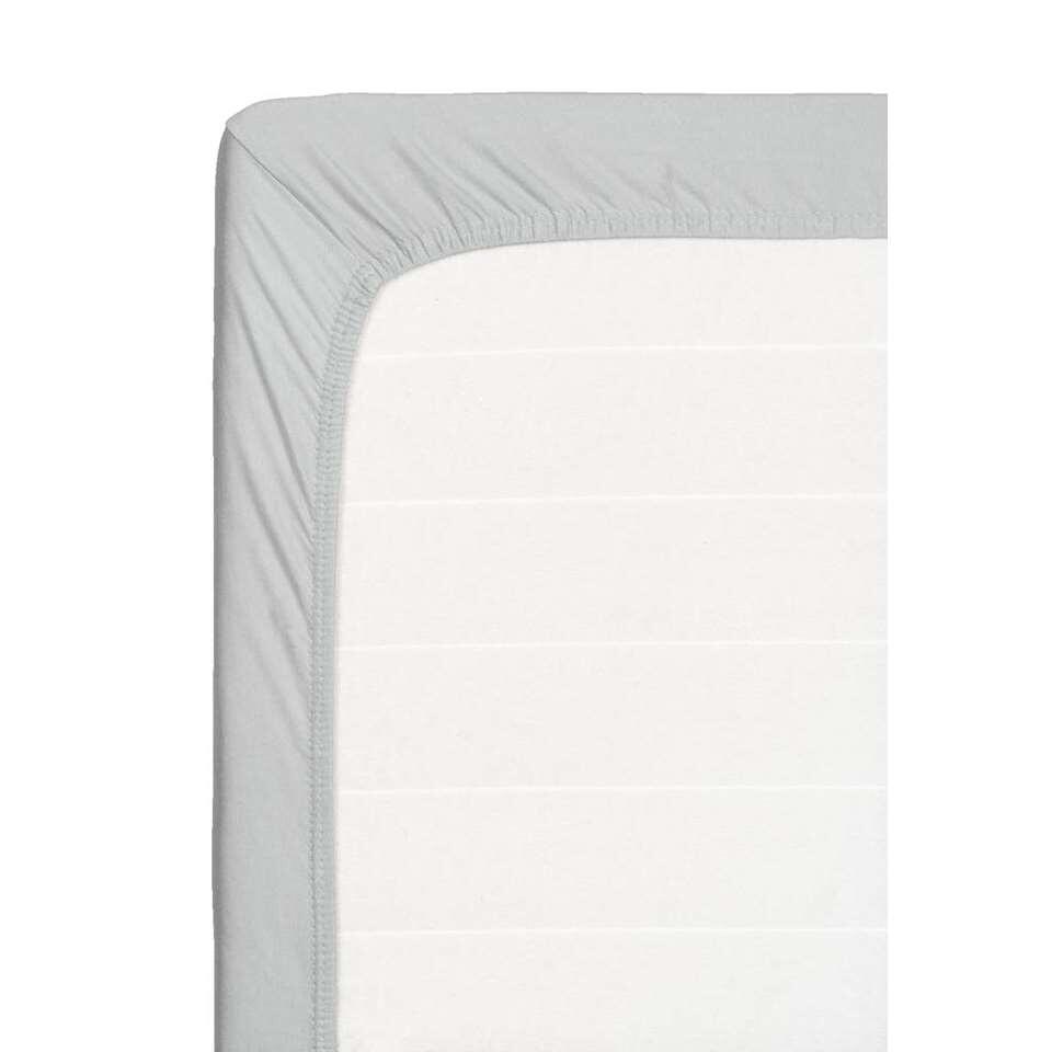 Hoeslaken topdekmatras jersey - grijs - 160x200 cm - Leen Bakker