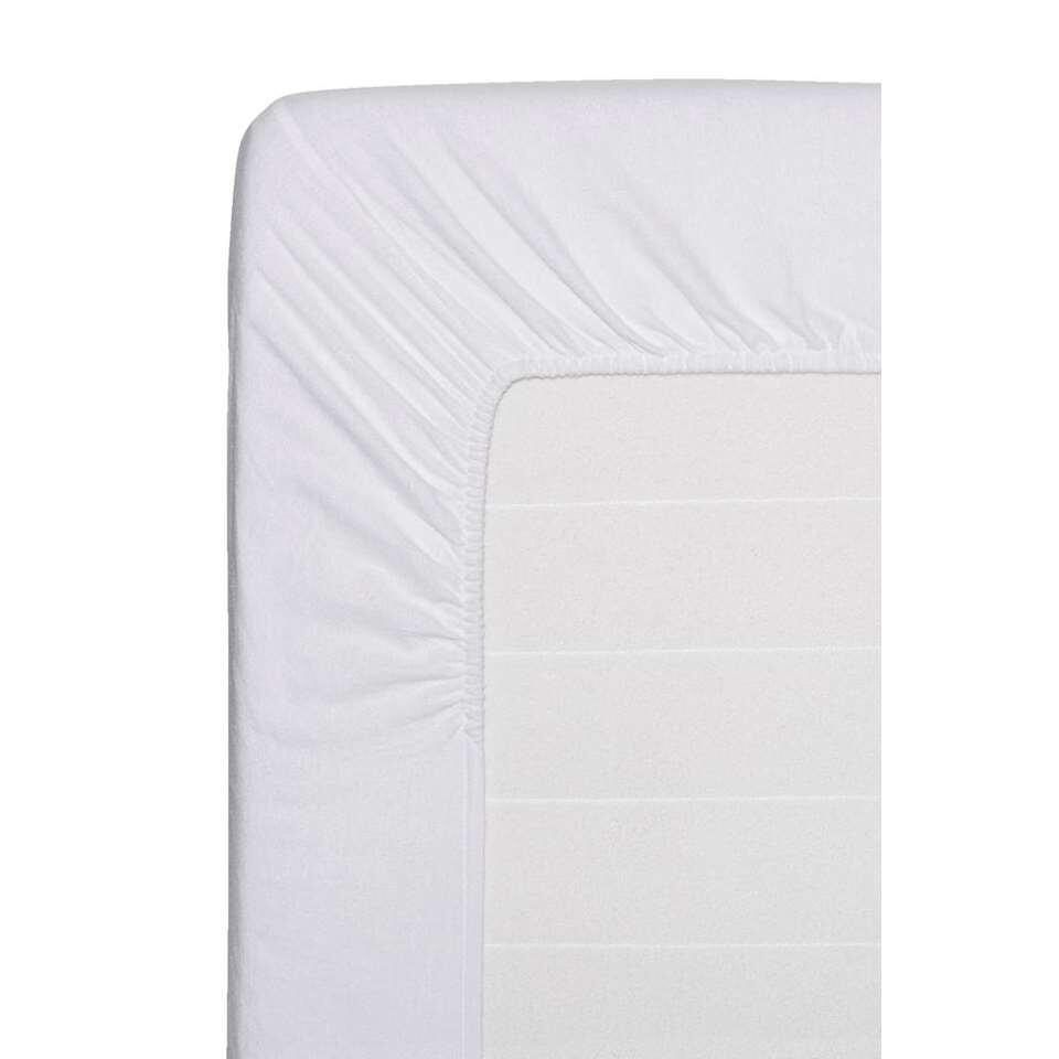 Comfort hoeslaken flanel - wit - 160x200 cm - Leen Bakker