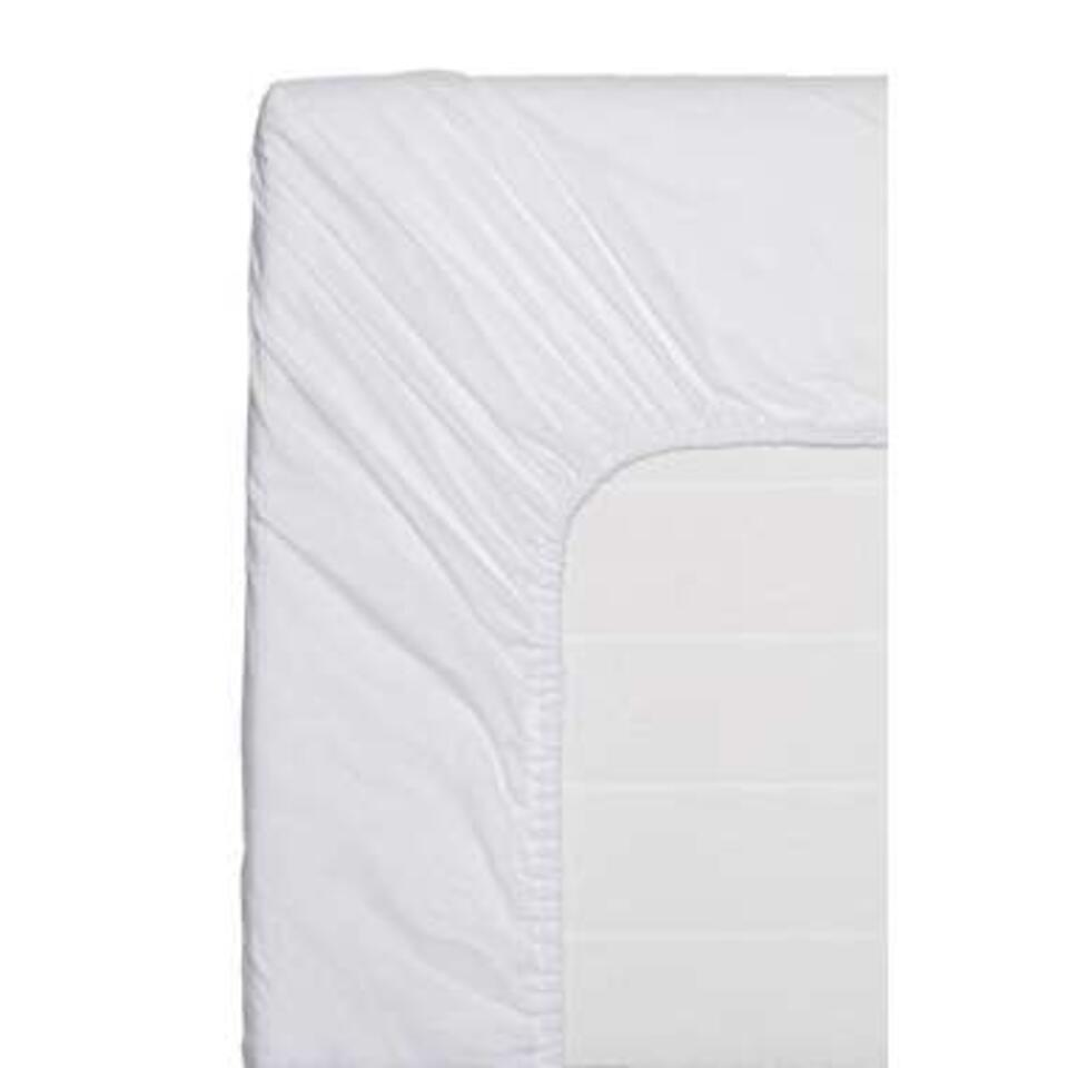Easy hoeslaken katoen - wit - 90x200 cm