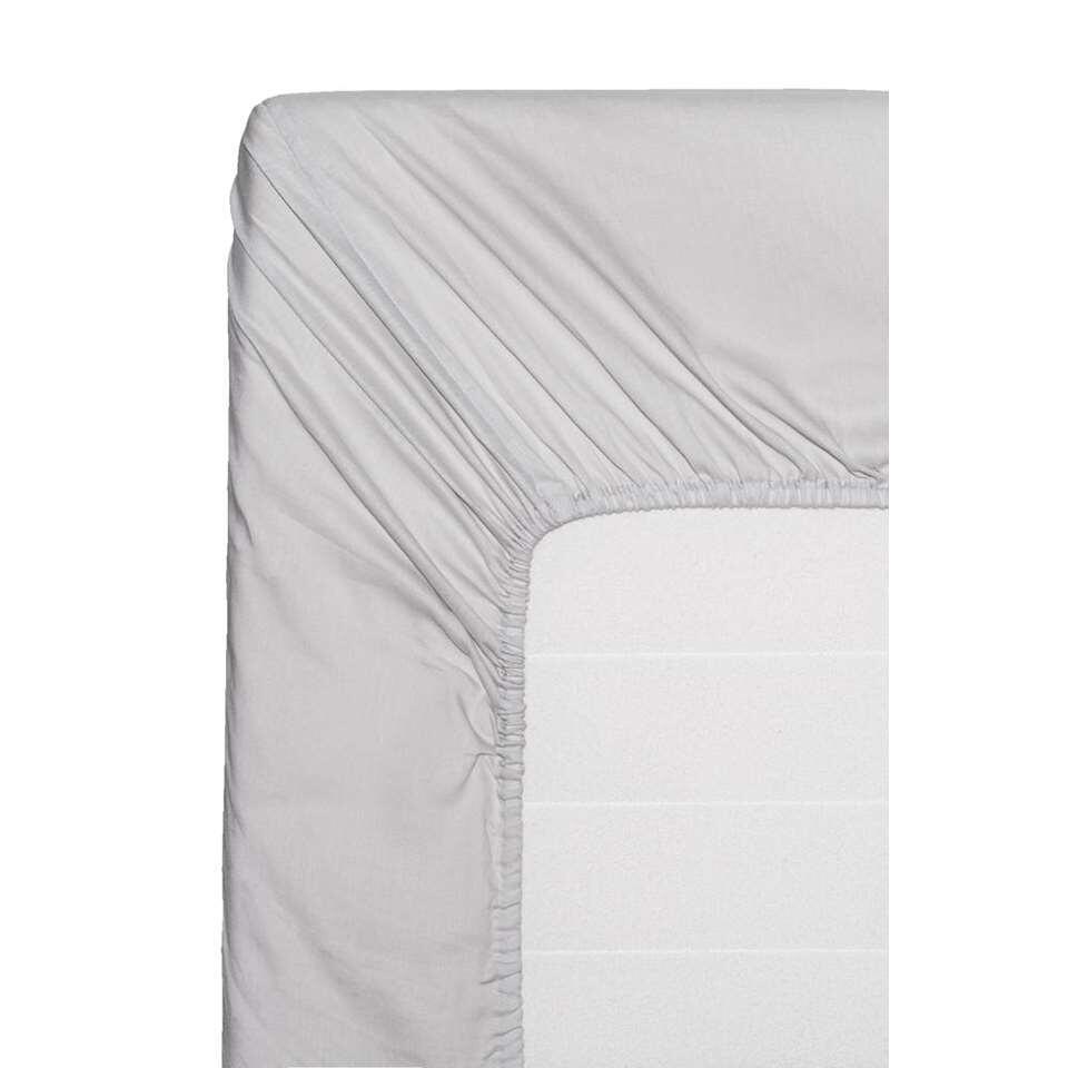 Easy hoeslaken katoen - grijs - 140x200 cm