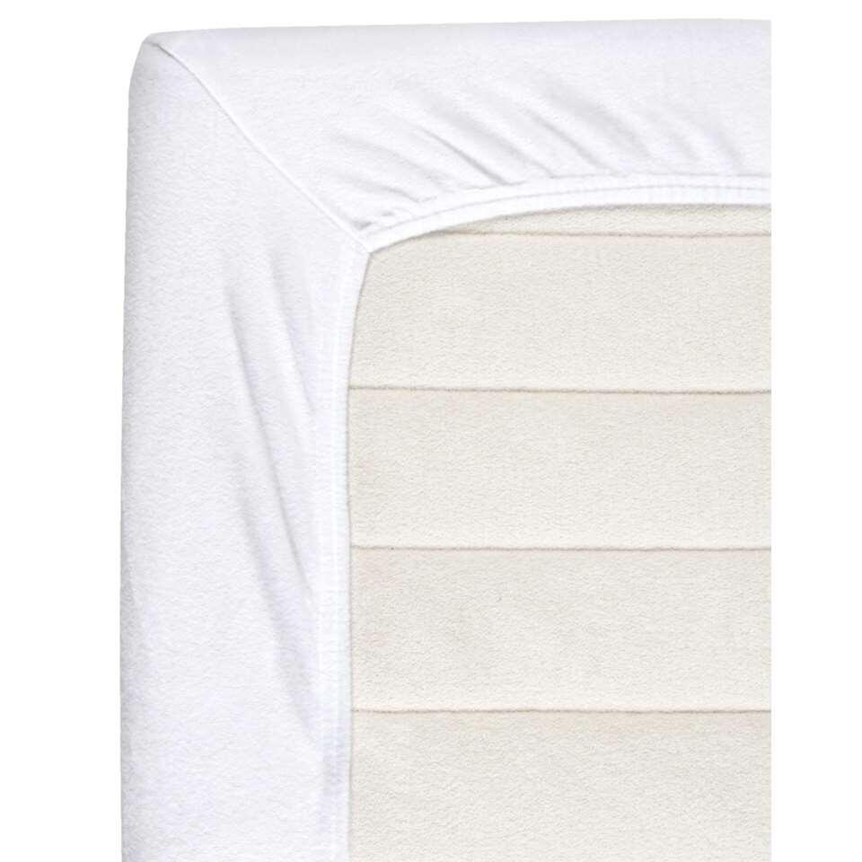 Baby molton zware kwaliteit - wit - 60x120 cm - Leen Bakker