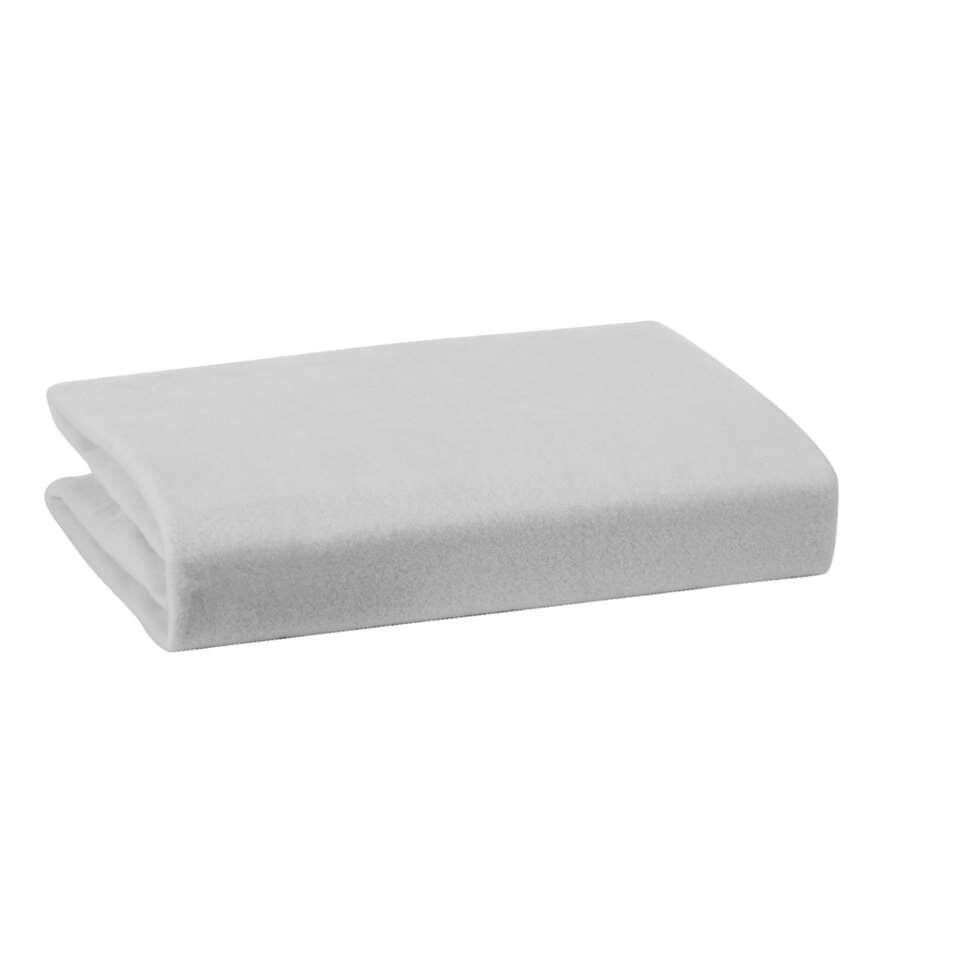 Molton zware kwaliteit - wit - 70x150 cm - Leen Bakker