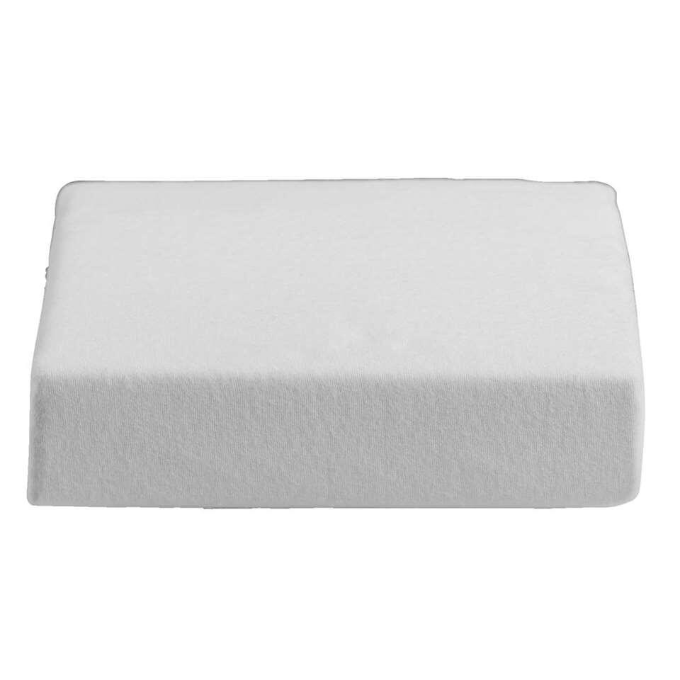 Molton zware kwaliteit - wit - 160x200 cm