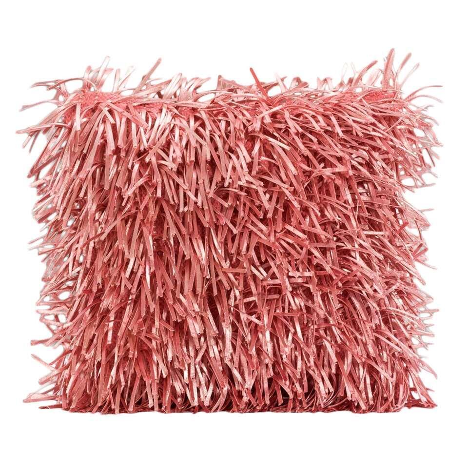 Sierkussen Beau - roze - 40x40 cm - Leen Bakker