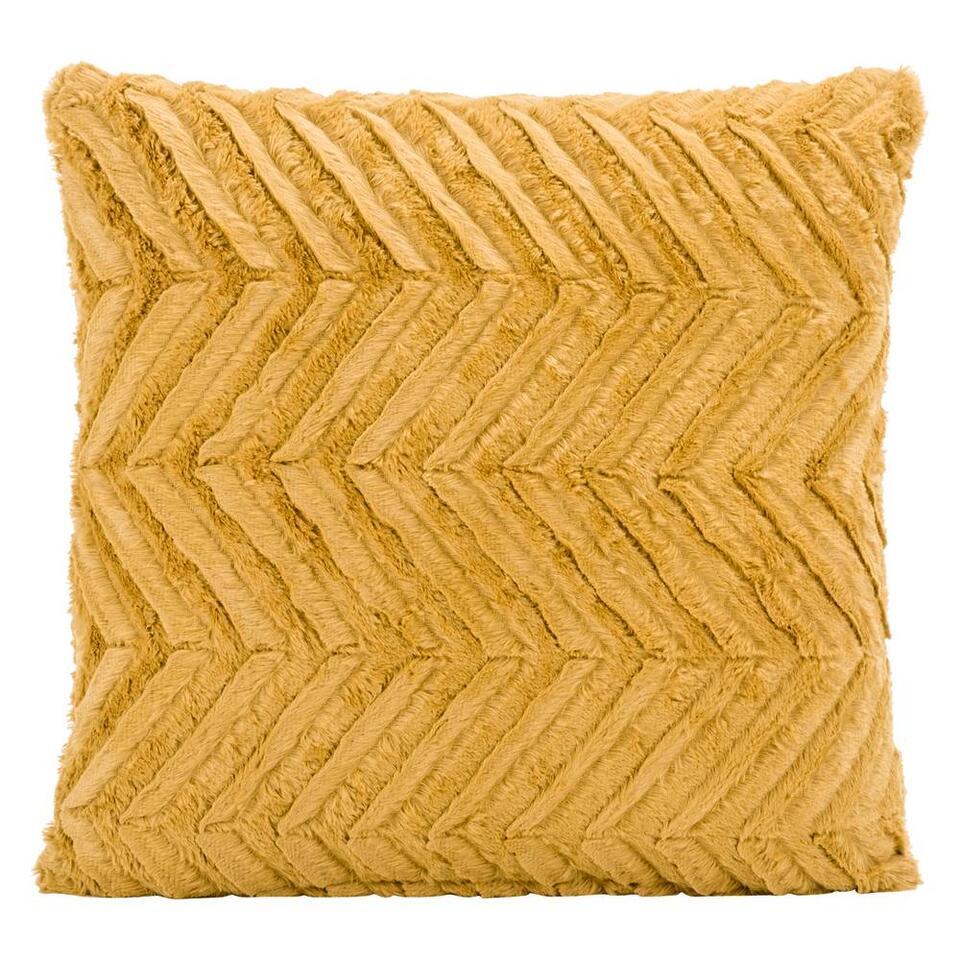 Sierkussen Monica is een lieflijk en heerlijk zacht kussen. Dit sierkussen heeft een afmeting van 45x45 cm en is gemaakt van 100% polyester. Leg het kussen op de bank, je bed of vrolijk er een fauteuil mee op.