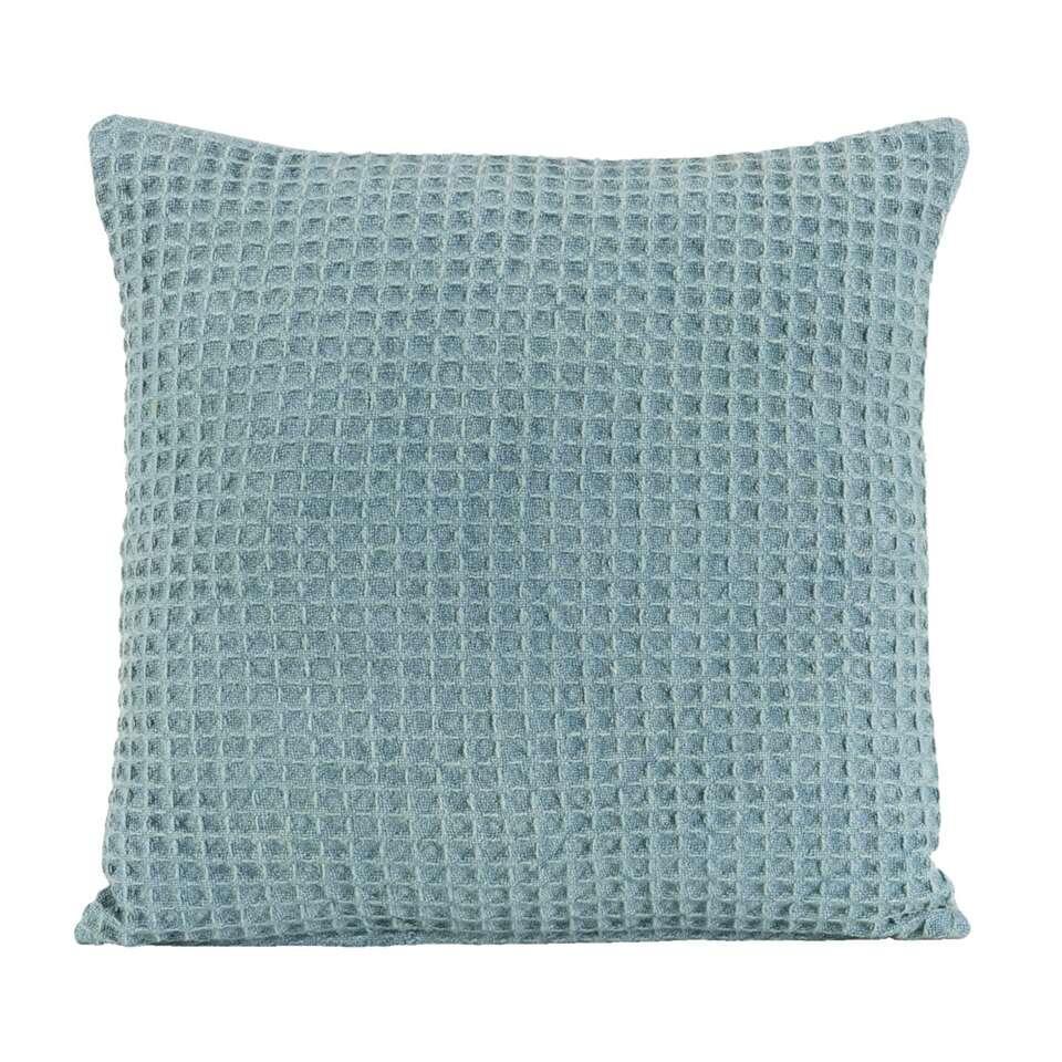 Sierkussen Jason – steenblauw – 45×45 cm – Leen Bakker