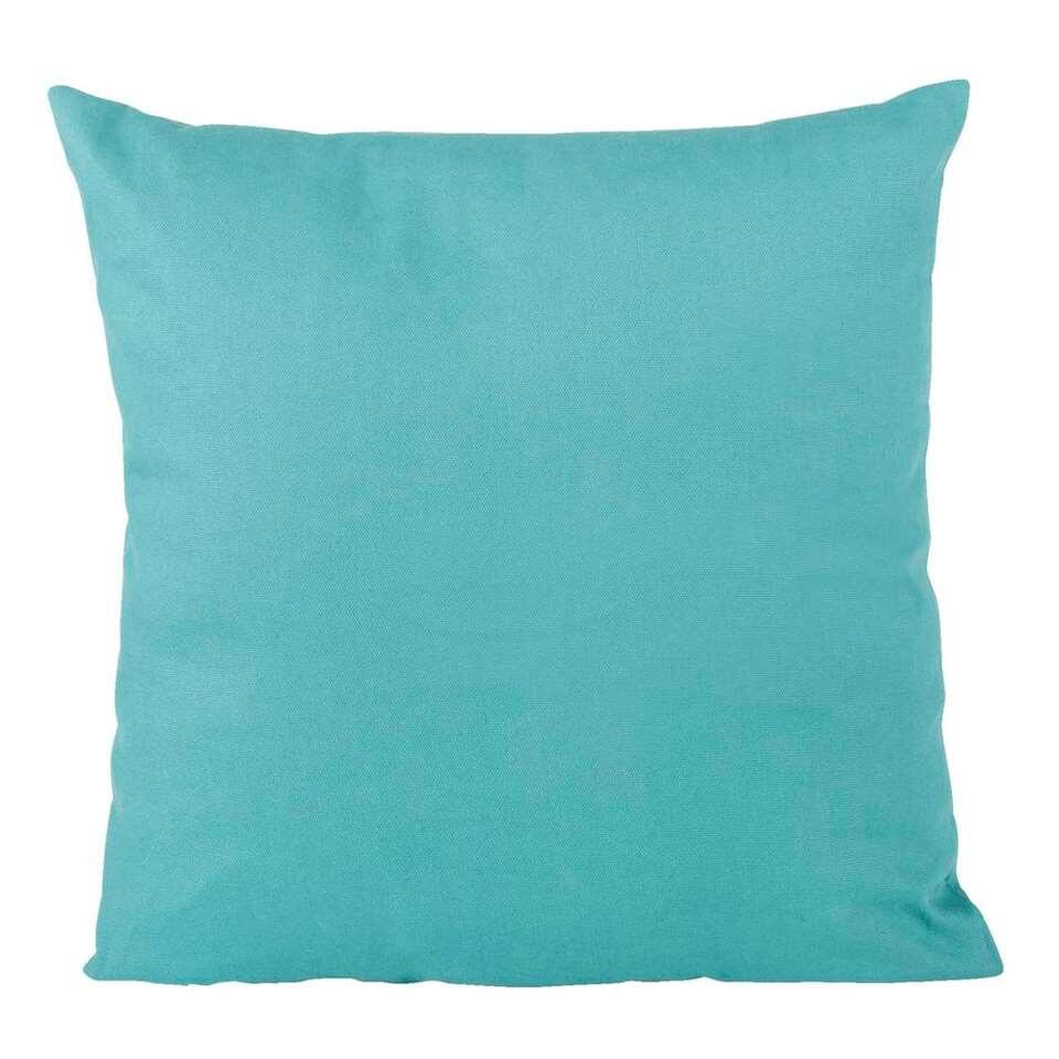 Sierkussen Mees - steenblauw - 40x40 cm