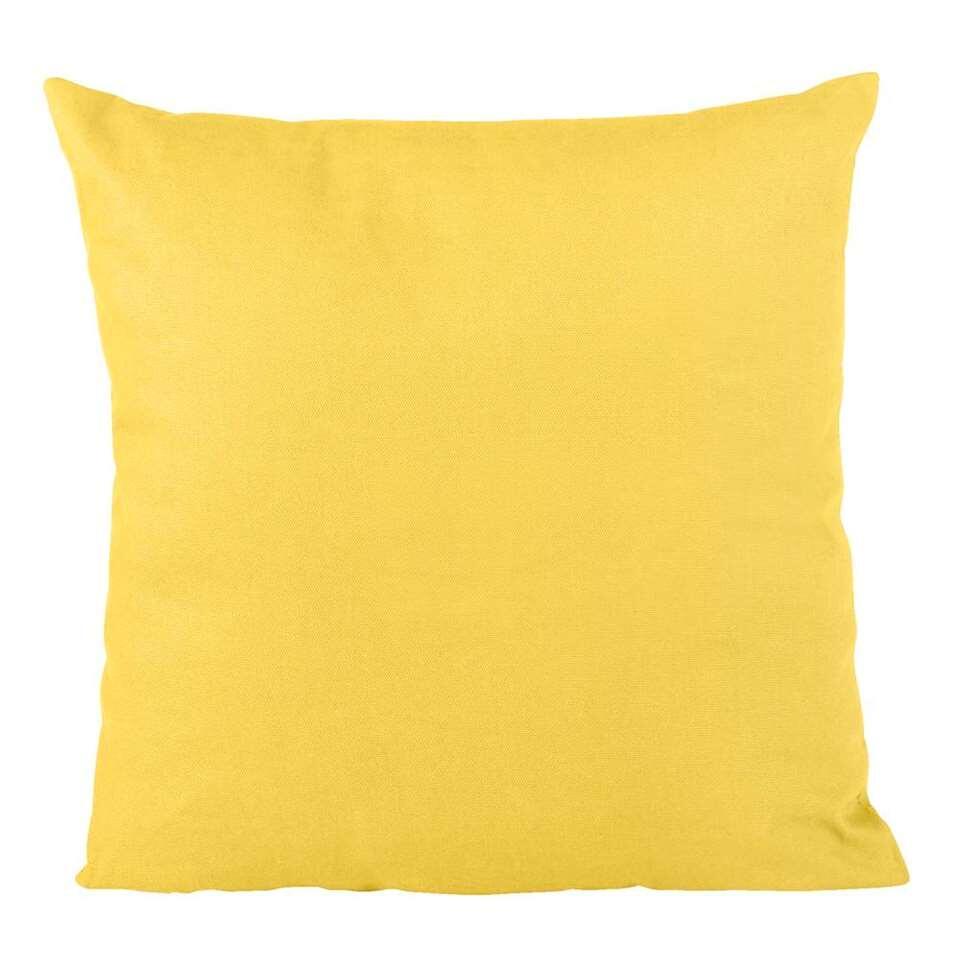 Sierkussen Mees - geel - 40x40 cm - Leen Bakker