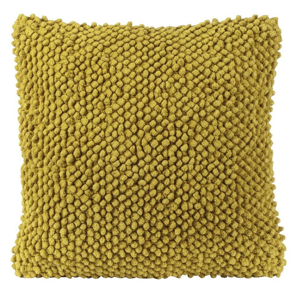 Sierkussen Indy is een fleurig geel kussen. Een heerlijk zacht kussen met een afmeting van 45x45 cm. Leg sierkussen Indy op de bank of op bed.