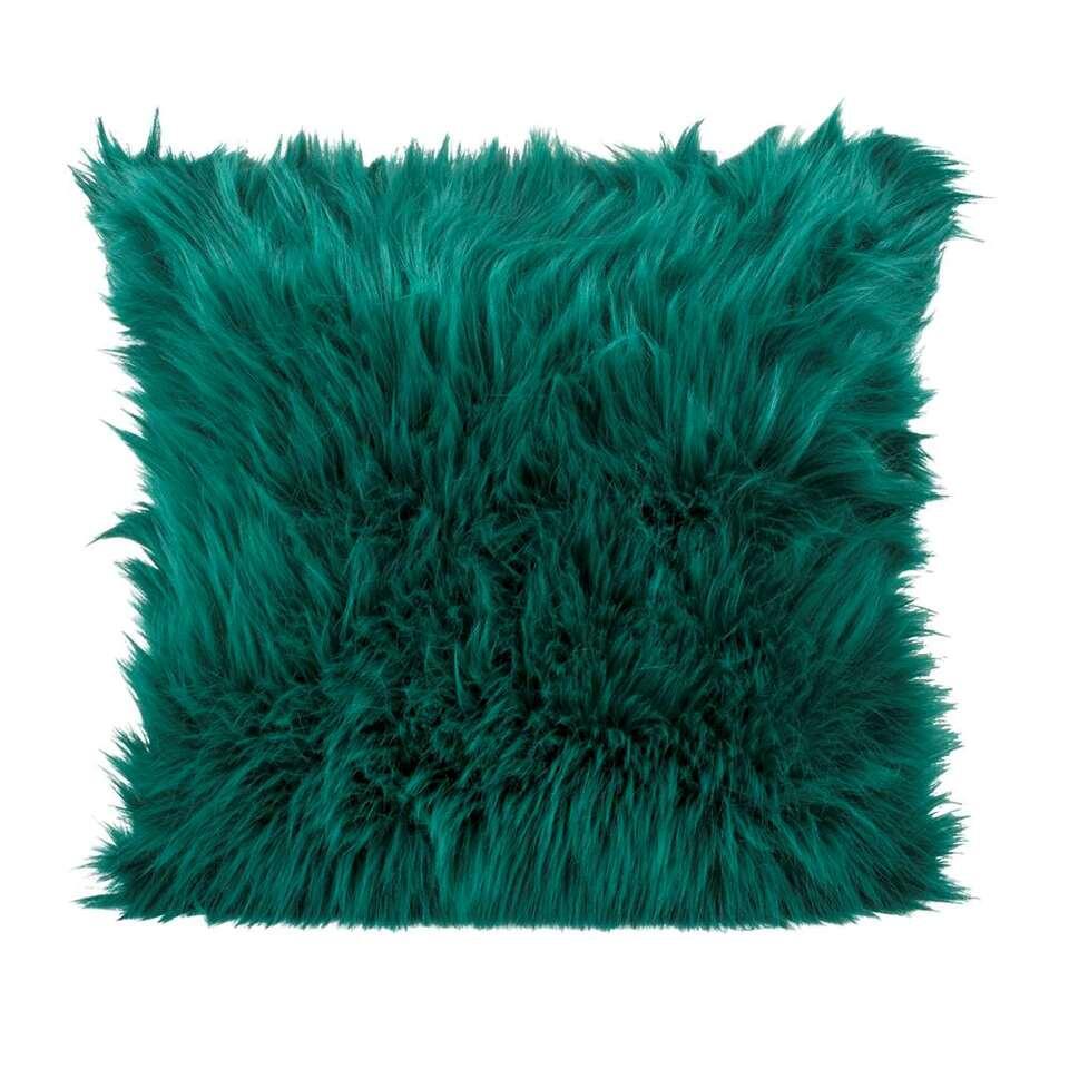 Sierkussen Nolan - groen - 45x45 cm - Leen Bakker