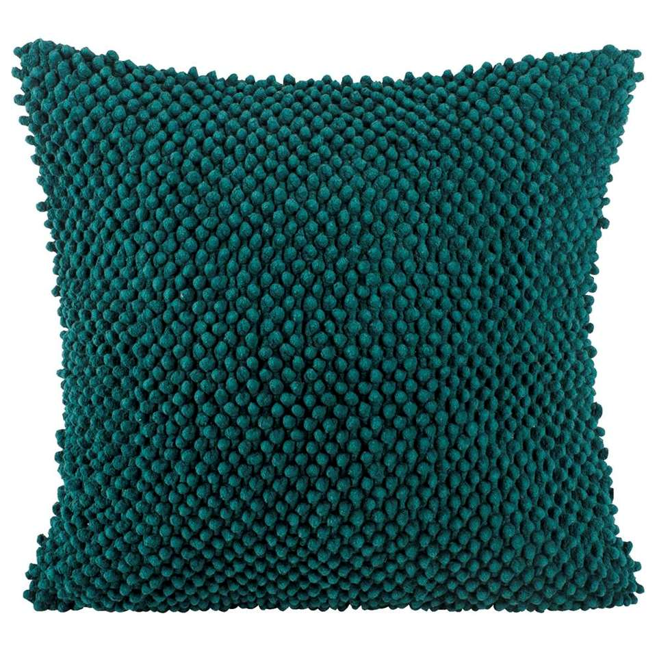 Sierkussen Indy turquoise 45x45 cm | Leen Bakker
