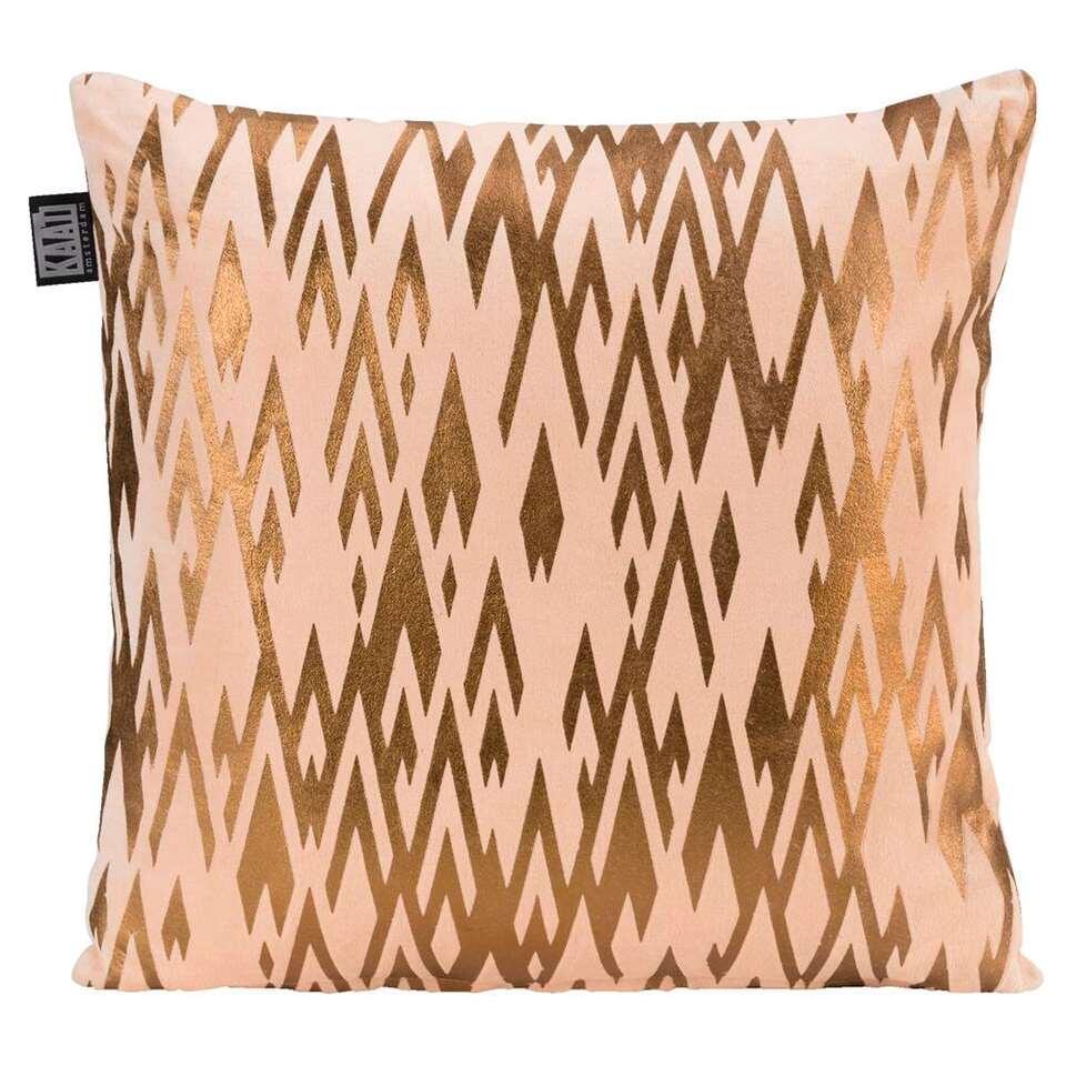 Kaat Amsterdam sierkussen Golden print - roze - 40x40 cm - Leen Bakker