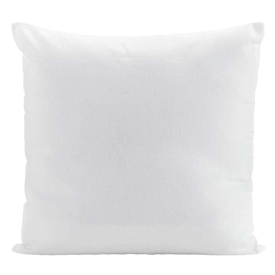 Sierkussen Mees – wit – 40×40 cm – Leen Bakker