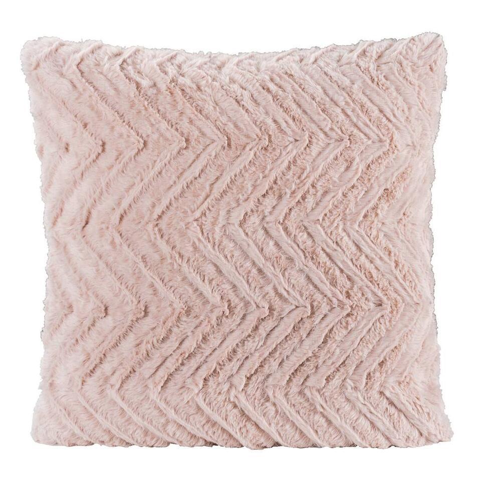 Sierkussen Monica roze 45x45 cm Leen Bakker