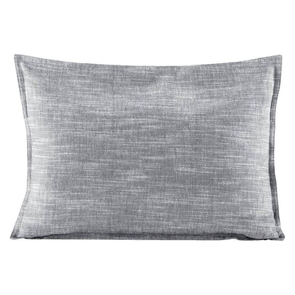 Sierkussen Kyra - grijs - 35x50 cm - Leen Bakker