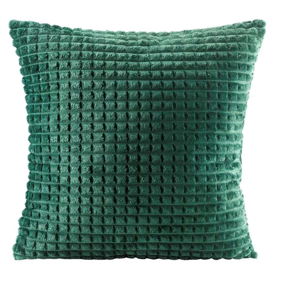 Sierkussen Judith – groen – 45×45 cm – Leen Bakker