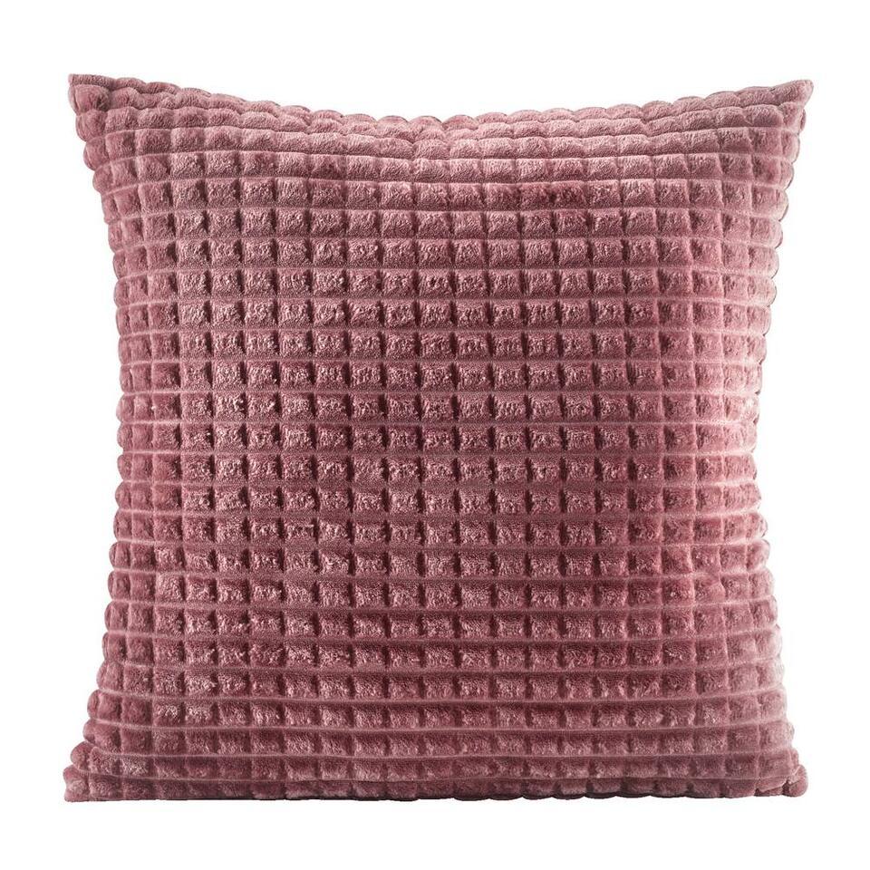 Sierkussen Judith - roze - 45x45 cm - Leen Bakker