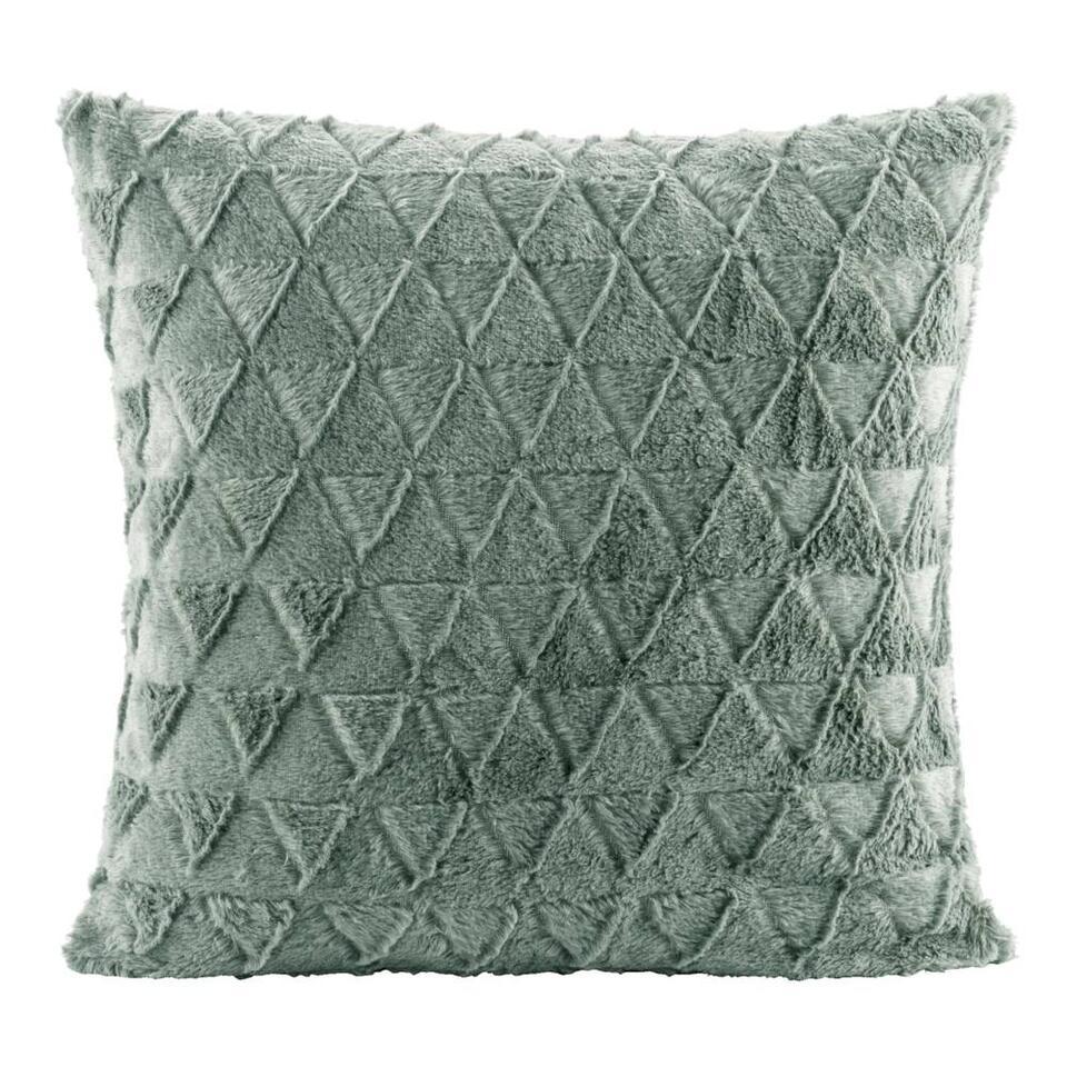 Sierkussen Nynke groen 45x45 cm Leen Bakker