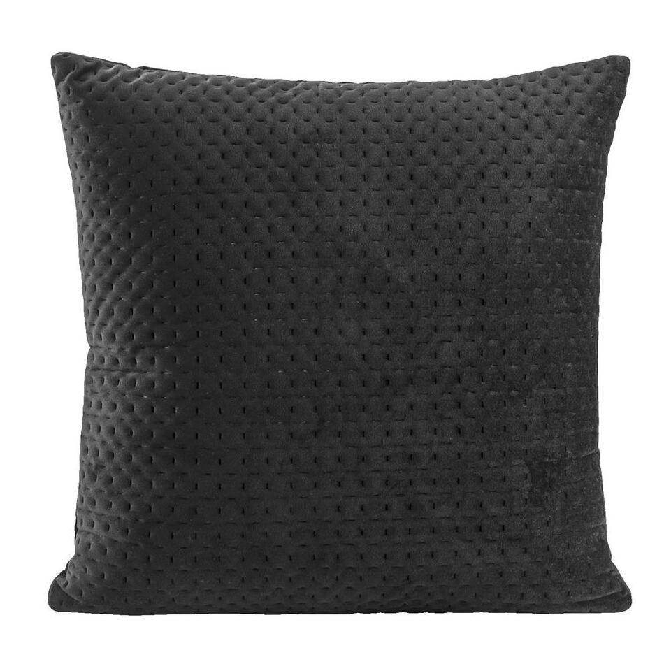 Sierkussen Alain - zwart - 45x45 centimeter