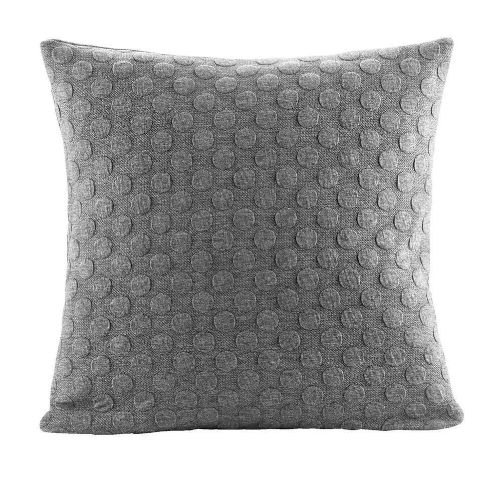 Sierkussen Bianca – grijs – 45×45 cm – Leen Bakker