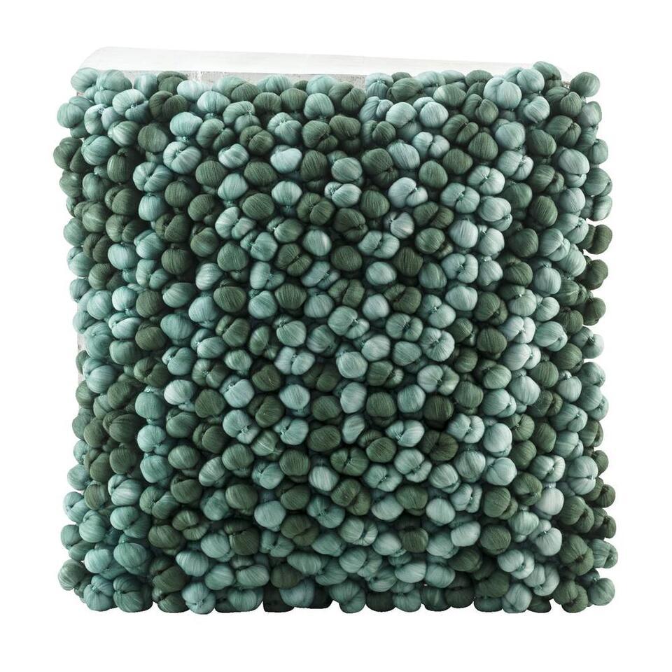 Sierkussen Whitney – groen – 40×40 cm – Leen Bakker