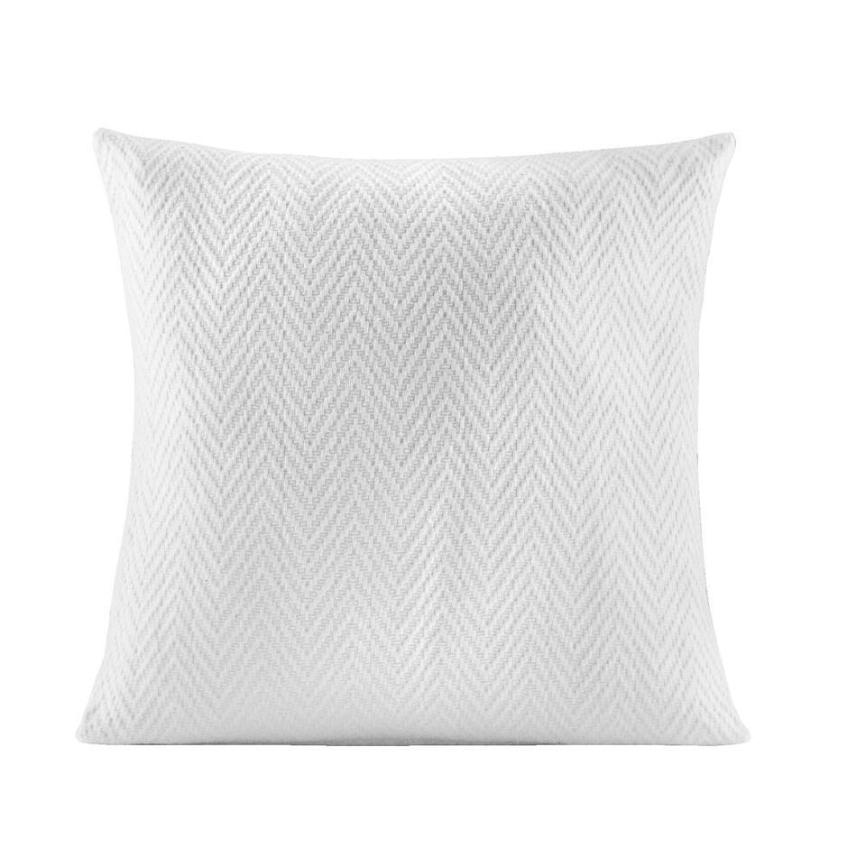 Sierkussen Jasmijn – wit – 45×45 cm – Leen Bakker
