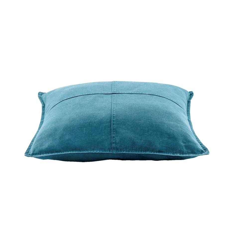 Sierkussen Cody - blauw - 45x45 cm - Leen Bakker
