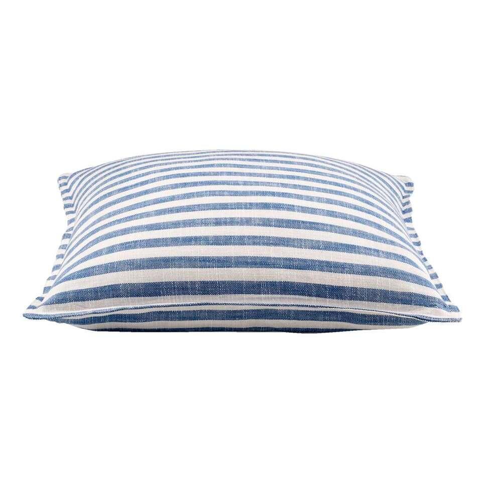 Sierkussen Malo - blauw - 50x50 cm - Leen Bakker