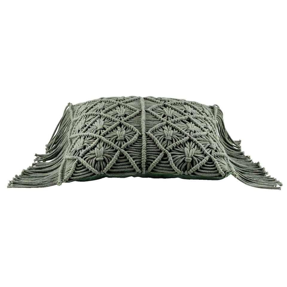 Sierkussen Jessy – groen – 40×40 cm – Leen Bakker