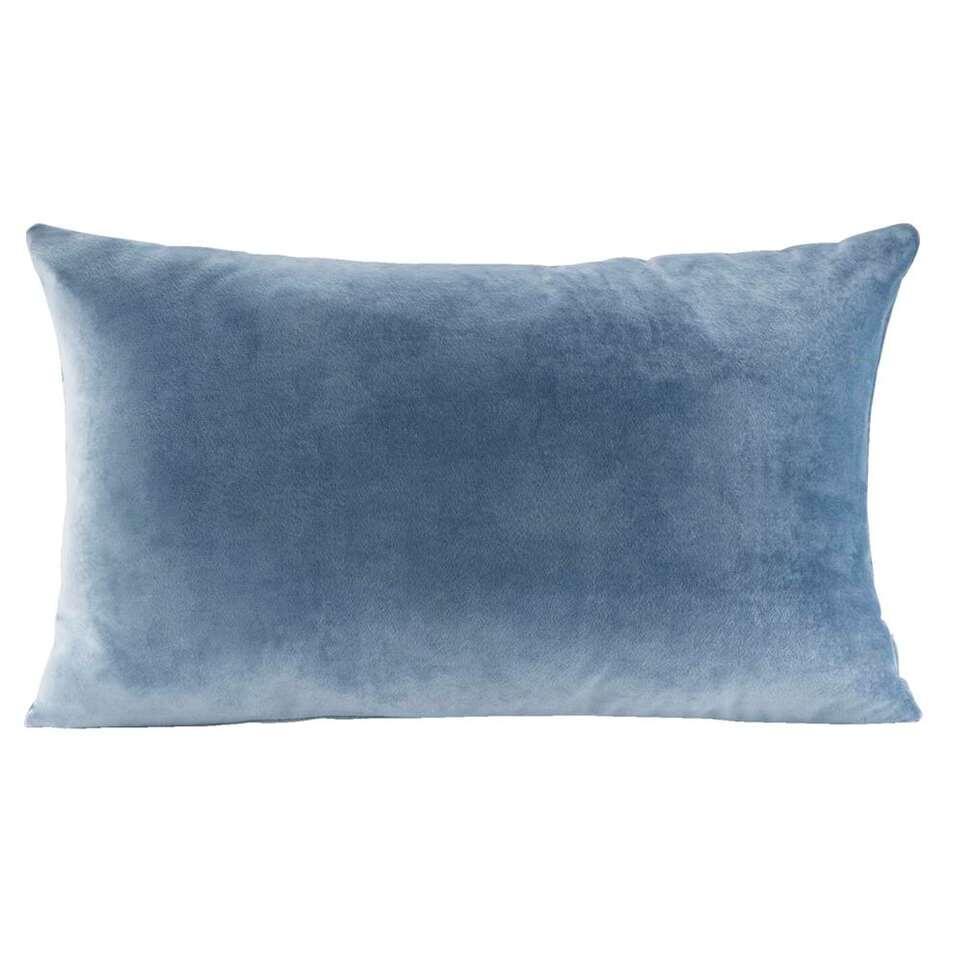 Sierkussen Coco – blauwgrijs – 30×50 cm – Leen Bakker