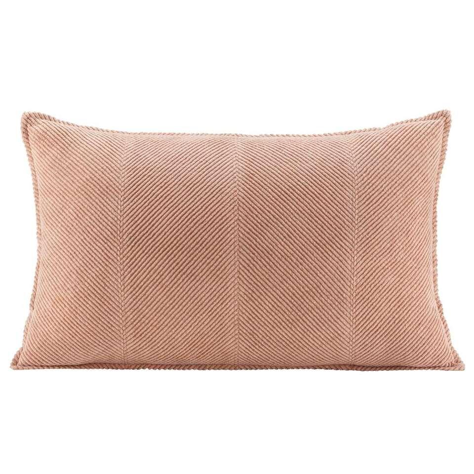 Sierkussen Nora - roze - 35x55 cm