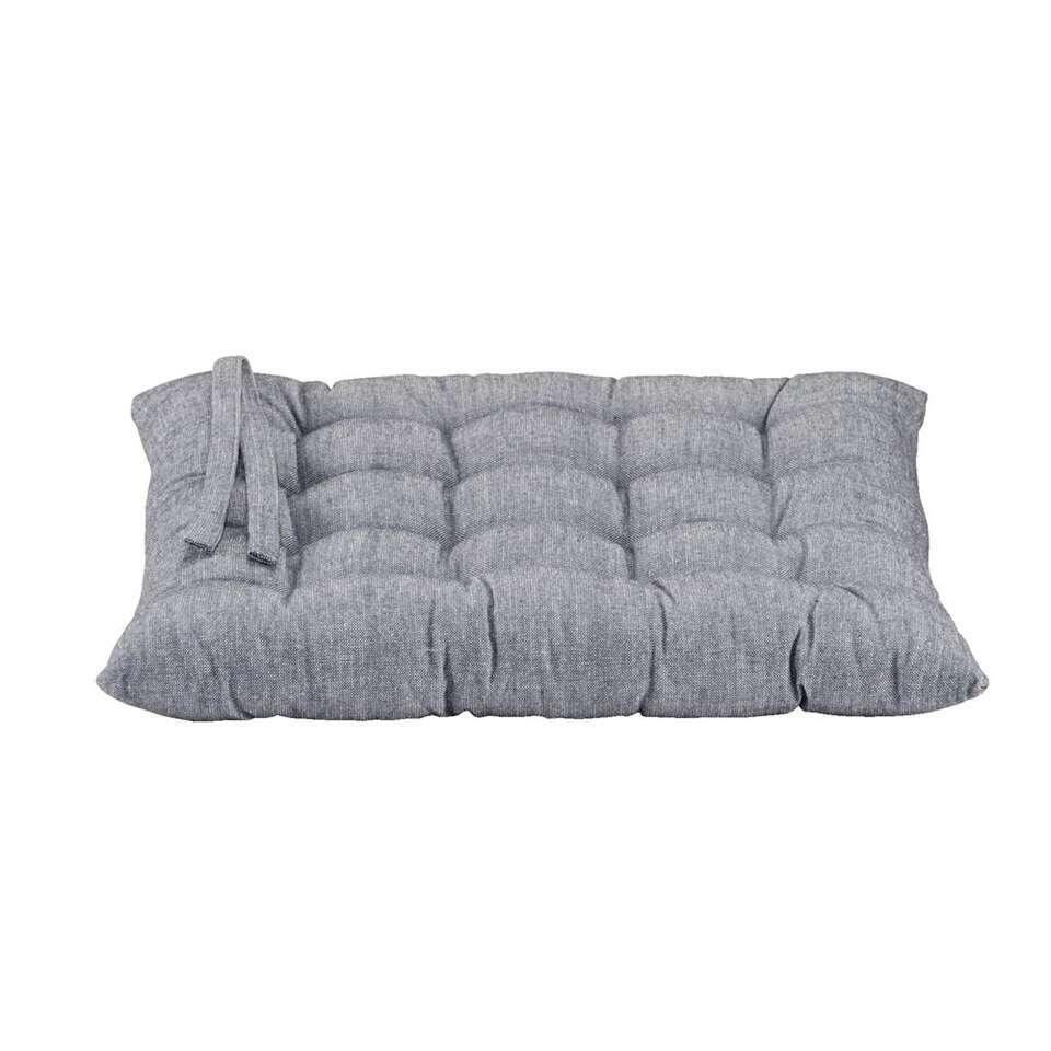 Zitkussen Rens - grijsblauw - 40x40x5 cm